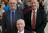 Former child migrants: Jon Holmes, John Merrigan and Maurice Crawford-Raby.